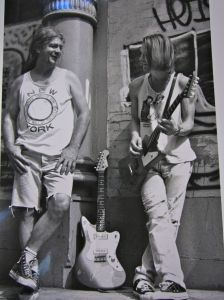 with Rick Kelly Carmine Street Guitars 1994 photo by Jerry Whitley